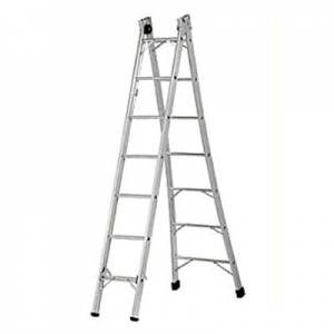 Escada tesoura alumínio 2,40 à 4,40M