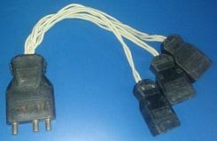 Plug 50M x 20 fêmea com 03 plugs